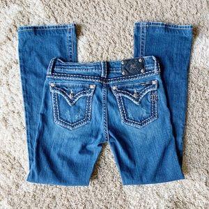 Miss Me Distressed Embellished Flap Pocket Jeans